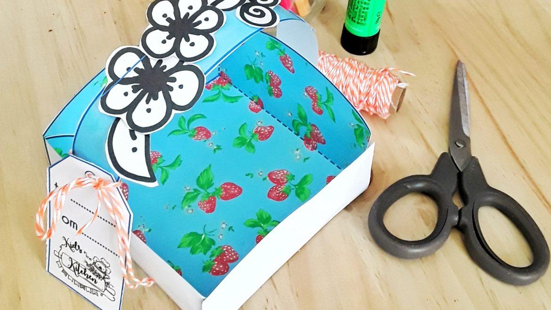 Un cestino di carta per regalare i nostri dolcetti!